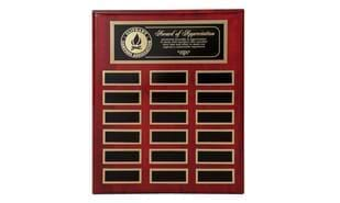 "10 1/2"" x 13"" Rosewood Piano Finish Annual Plaque"