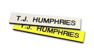 "2 1/2"" x 1/2"" Plastic Name Tag with Magnetic Back"