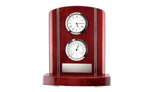 Kettleby Rosewood Piano Finish Clock Weather Station