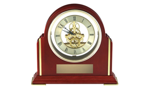 Rosewood Piano Finish See Thru Mantle Clock