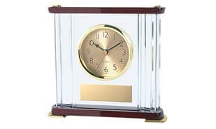 Deluxe Rosewood and Acrylic Alarm Clock