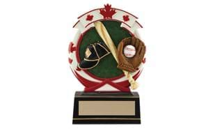 "5 1/2"" Deluxe Full Colour Baseball Relief Sculpture"