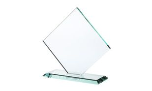 "Square Diamond Series Jade Glass Award: 6"" x 6 1/2"""