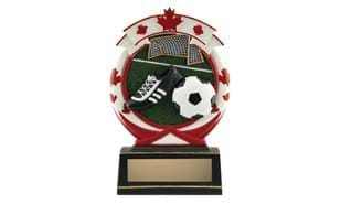"6 1/2"" Deluxe Full Colour Soccer Relief Sculpture"