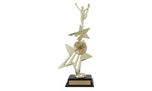 Universal Star Power Riser Achievement Award with Figure: 12 3/4""
