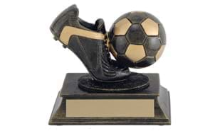 "4 1/4"" Aztec Gold Soccer Sculpture"