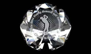 "2-1/4"" x 3-1/8"" Diamond Series Optic Crystal Paperweight"