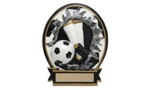 "5"" Busting Through Soccer Stand-up Sculpture"