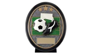 "6"" Soccer Star Oval Sculpture"