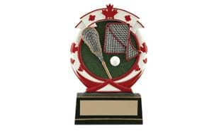 "5 1/2"" Lacrosse Icon Stand-Up Sculpture"