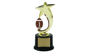 Football Spinning Achievement Award: 8""