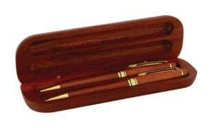 Deluxe Rosewood Pen & Pencil Set with Box