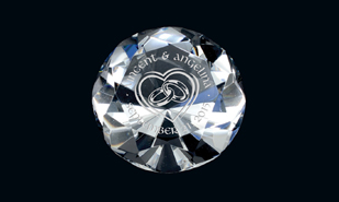 "1-3/4"" x 2-3/8"" Diamond Series Optic Crystal Paperweight"