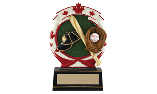 "'5-1/2"" Deluxe Full Colour Baseball Relief Sculpture"