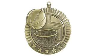 Basketball Star Medallion 2 3/4 inch