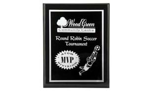 "10 1/2"" x 13"" Black Piano Finish Plaque"