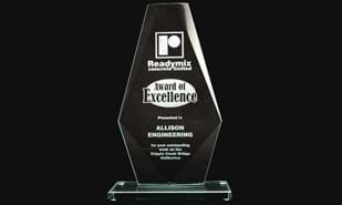 "9-1-2"" Coulton Series Jade Glass Award"