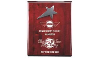 "5"" x 7"" Rosewood Silver Star Plaque"