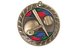 Baseball Stained Glass Sculptured medallion 2 1/2 inch