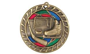 "2 1/2"" Stained Glass Hockey Medallion"