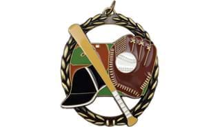 Baseball Sculptured Negative Space Medallion 2 3/4 inch