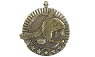 "2 3/4"" Five Star Hockey Medallion"