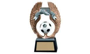 "5 1/2"" Winged Soccer Sculpture"