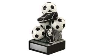 Soccer Ball and Cleat Tower Sculpture