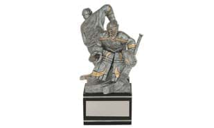 """Back-to-Back"" Male Hockey Sculpture"