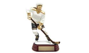 Female Hockey Action Sculpture - 6""