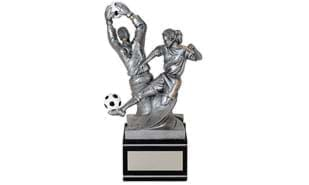 "Female ""Back-To-Back"" Soccer Sculpture"