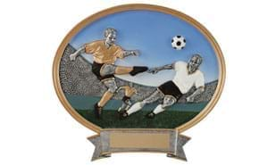 Male Soccer Oval Sculpture - Large