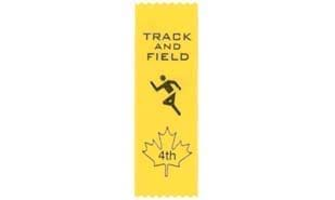 Stock Track & Field Fourth Place Ribbon