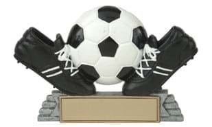 Twin Cleat Soccer Ball Sculpture