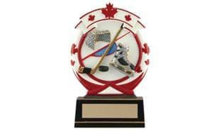 Maple Leaf Hockey Sculpture - Large