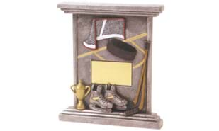 3-D Hockey Easel Plaque Sculpture
