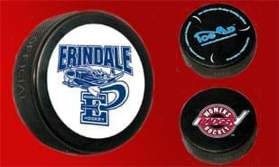 Official Custom Imprinted Black Hockey Puck - 2C Imprint